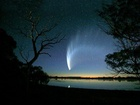 Kometa McNaught C/2006 P1. Kometu objevil Rob H. McNaught na CCD snímcích pořízených 0,5-m Schmidtovou komorou v rámci Siding Spring Survey 7 dne 7.srpna 2006.