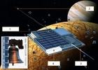 Každý čtvercový koráb-čip nebude tlustší než lepenka, délka jeho strany bude asi 6 mm, takže 25 drouboulinkých meziplanetárních přístrojů se vejde na povrch jedné známky. Roj se připravuje k výsadku na Evropu. Schéma meziplanetárního korábu-čipu. 1 – sluneční baterie, 2 – drátek, 3 – anténa, 4 – mikroskopický motorek pro regulaci orbity. NASA předala ing. Peckovi 75 tis.$, aby mohl tuto myšlenku dovést do úspěšného konce.