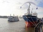 MS Beluga je 140 metrů dlouhá nákladní loď