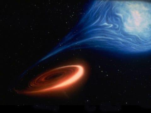Černá díra je objekt s tak velkou hustotou a silnou gravitací, že od ní nemůže nic uniknout ani světlo. V naší Mléčné dráze (Galaxii) se jich nacházejí milióny, ale většinu z nich není možné objevit.