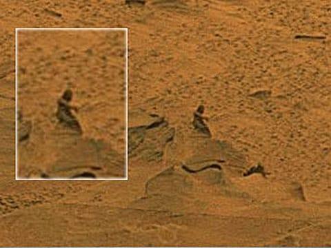 Fragment fotografie povrchu Marsu
