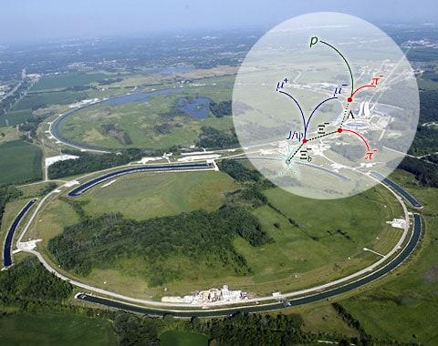 laboratoř Fermi a schéma rozpadu nové elementární částici