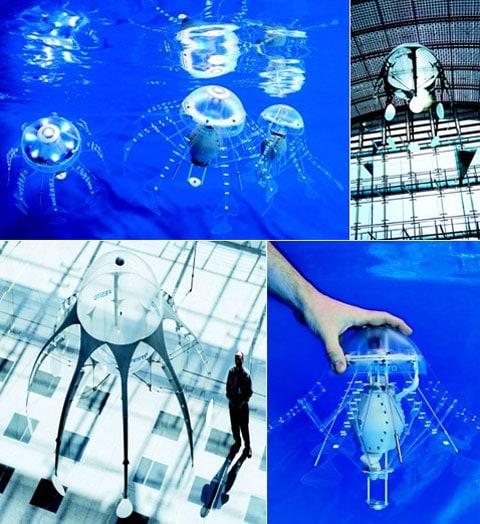 Létající nebo plavající roboti od Festa dostávají potravu ze zabudovaných lithiových akumulátorů
