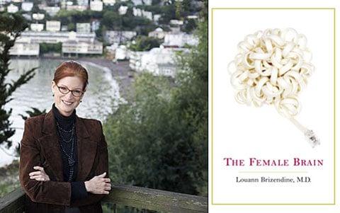 Louann Brizendine a obálka její knihy o mozku