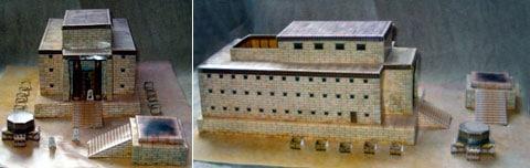 Model Šalamounova chrámu nebo Prvního chrámu, jak bývá ještě nazýván. Na území současného Jeruzaléma stál od roku 950 do roku 586 před naším.