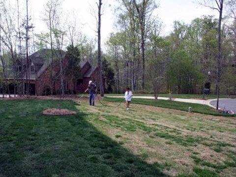 Nátěr pro věčně zelený trávník