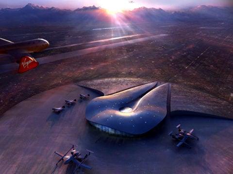 Pasažérský terminál nového kosmodromu