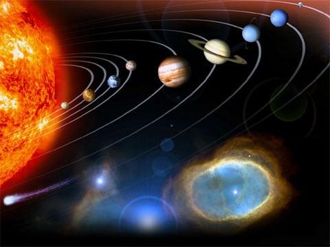 Planetární systém hvězdy známé pod názvem Slunce tvoří především 8 planet, 5 trpasličích planet, přes 150 měsíců planet (především u Jupitera, Saturnu, Uranu a Neptuna) a další menší tělesa jako planetky, komety, meteoroidy apod.