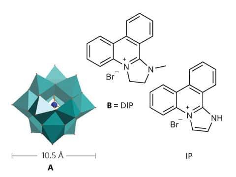Polyoxometalát (polyoxometalate) je tvořen nekonečnou sítí těchto klastrů.