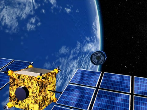 Rentgenový teleskop Xeus se bude skládat z několika elementů, které budou létat odděleně ve vzdálenosti asi 50 metrů