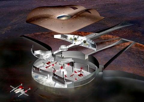 "Spaceport America připomína vesmírný koráb ""Tisíciletého sokola"""