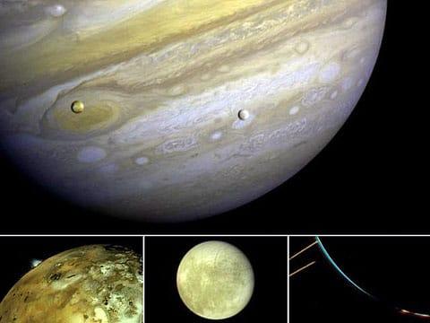 Takhle Jupiter (a Evropa) vypadá z asteroidu, který proletěl v jeho blízkosti