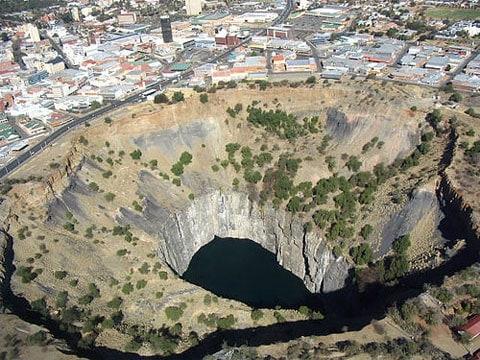 Velká jáma Kimberley - Jižní Afrika