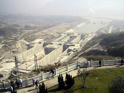 Vodní elektrárna Three Gorges Dam v Číně