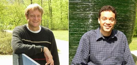 Zastánci marťanské vědecké pravdy. Hans Herrmann (vlevo) se už celkem třicet let zajímá o duny, hlavně o pozemské. A když ho uchvátilo počítačové modelování, ihned pochopil, že lze modelovat nejen